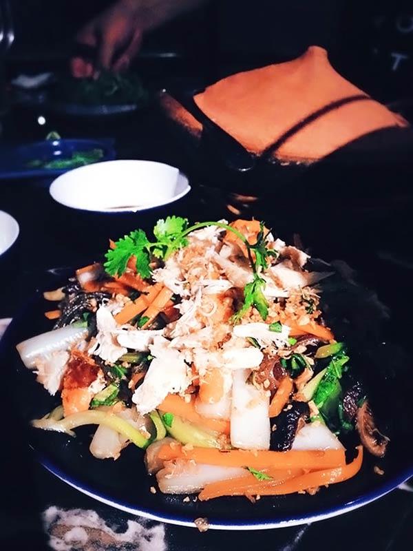 カニ肉の野菜炒め