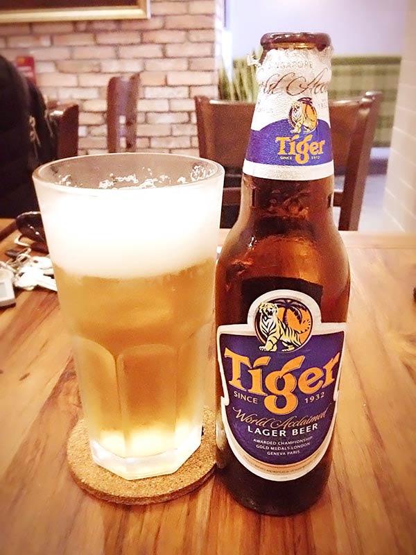 タイガーのロゴがついたビール