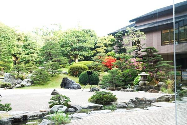 玉造温泉の庭