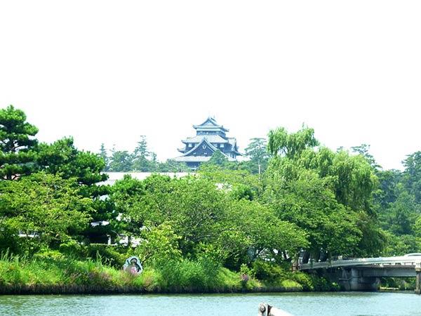 松江城を撮影