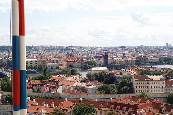 プラハ城から見下ろす風景