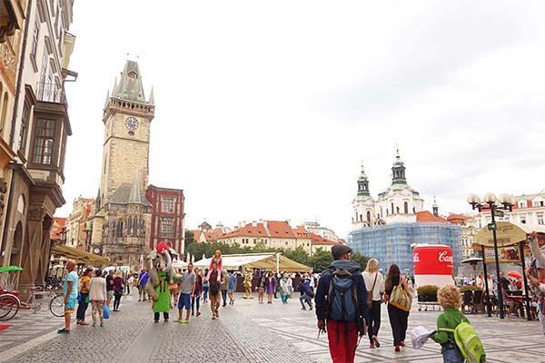 旧市街広場の街並み