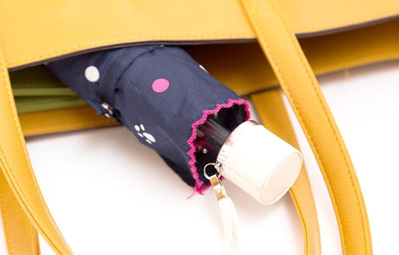 カバンに入れている折りたたみ傘
