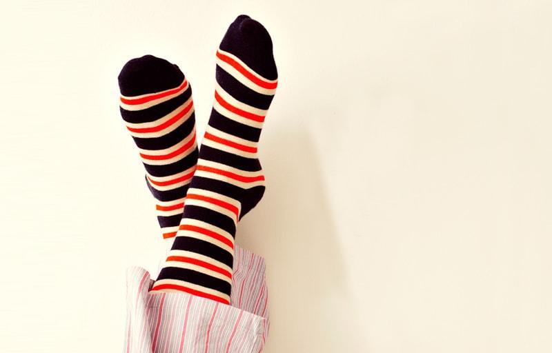 カラフルな靴下
