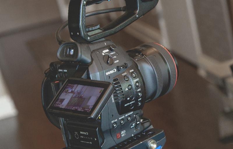映画撮影用のカメラ