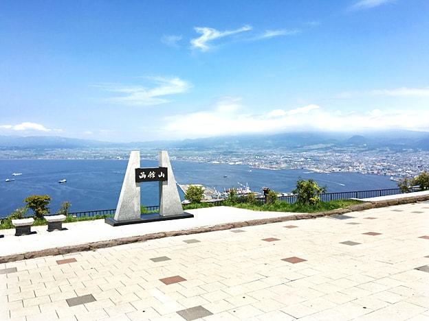 函館山から見下ろす夏の函館