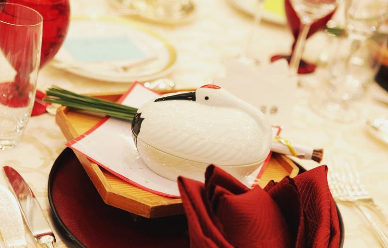 披露宴の鶴
