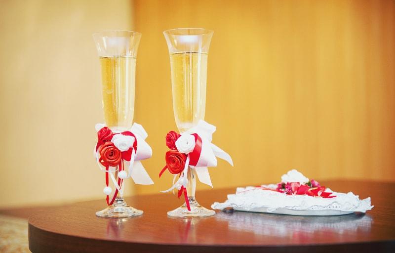 披露宴のワイングラス