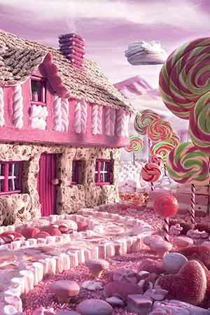 「お菓子の家」のiPhone壁紙