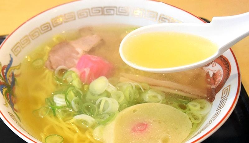スープは透明感があります