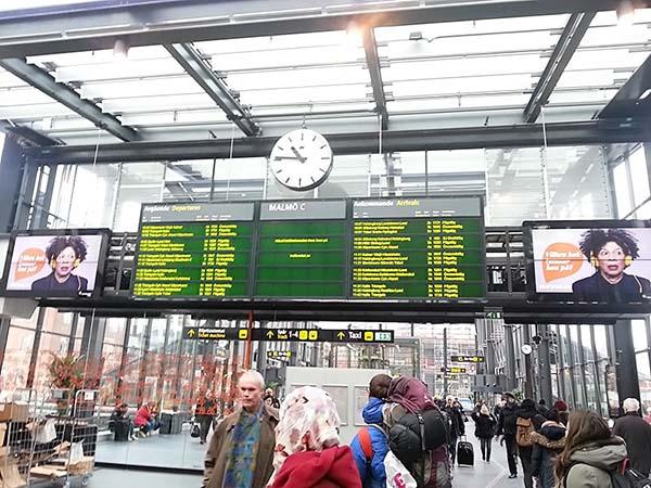 マルメ駅の風景