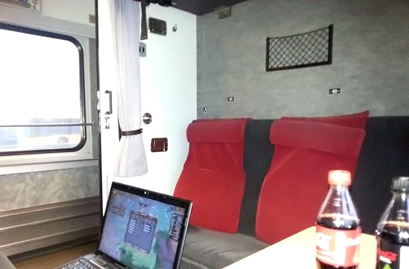 帰りはスネールトーグ鉄道の寝台車で
