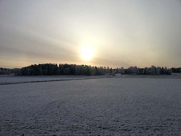 スウェーデンは日が暮れるのが早い