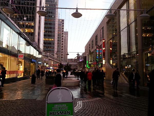 賑やかな繁華街
