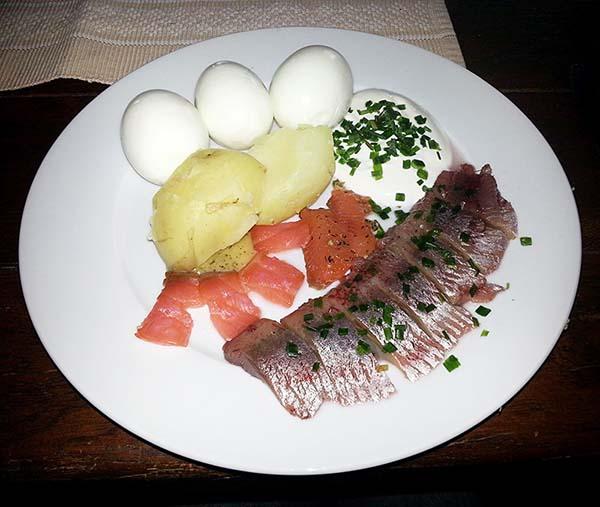 スウェーデンの魚料理