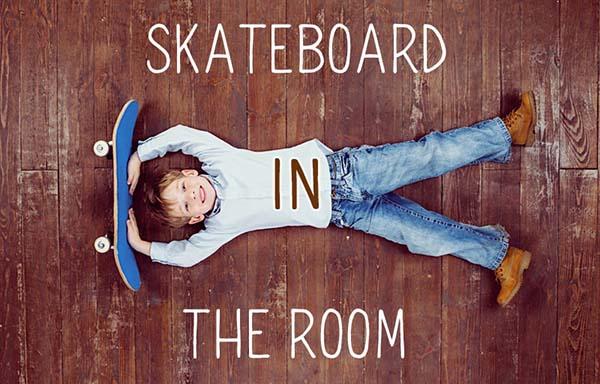スケートボードと男の子