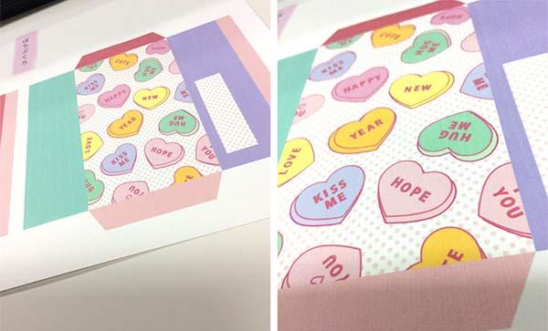 かわいいキャンディのポチ袋
