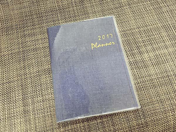 デニムデザインの手帳