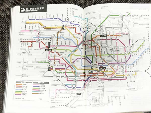 地下鉄の路線図も分かりますよ