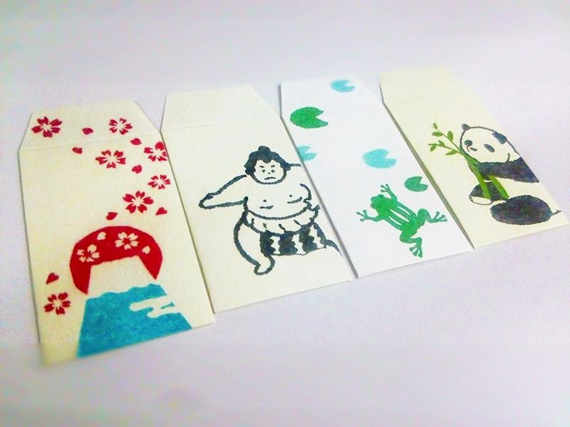 和紙で作られたポチ袋