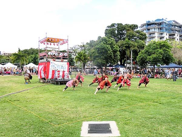 ケアンズ・フェスティバルの締めは盆踊り大会