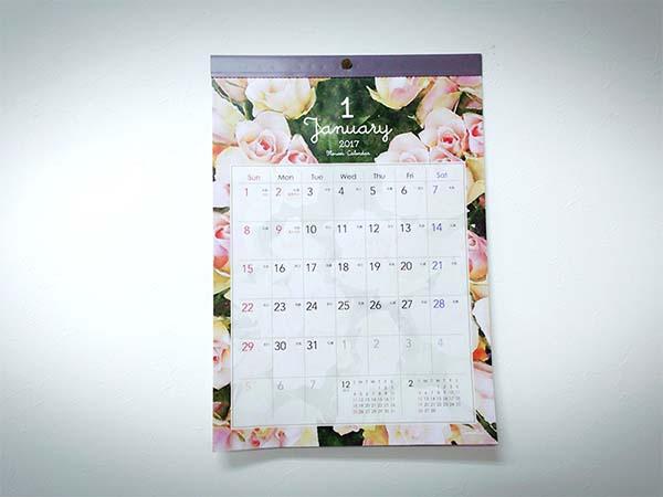 フラワーデザインのカレンダー