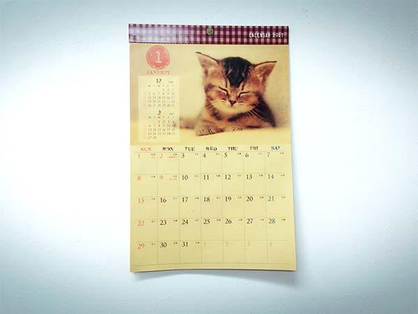 可愛い「猫カレンダー」
