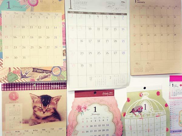 壁掛けタイプカレンダー