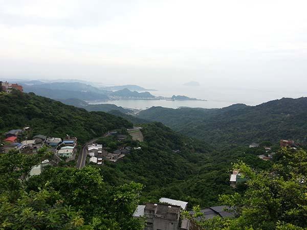 山の風景が美しい