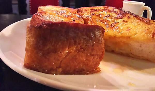 トーストの厚みが凄いです