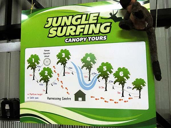 案内図もジャングルだけあってグリーンです