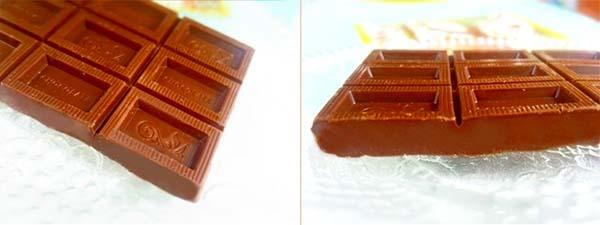 チョコレートは大きめです