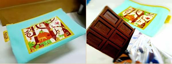 カルディのチョコレート入りポーチ