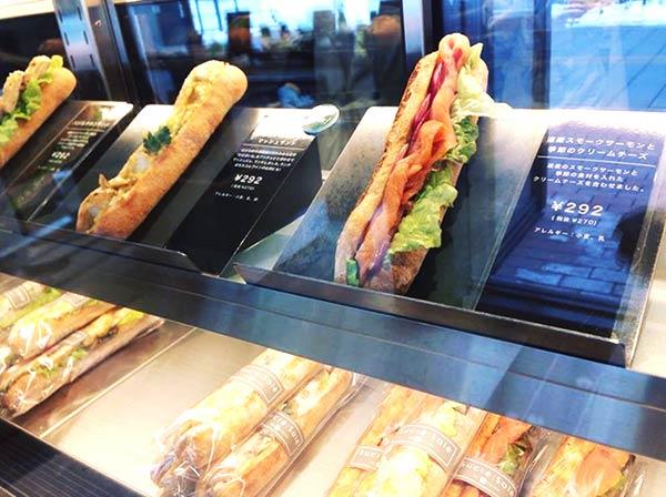 サンドイッチの種類も豊富です