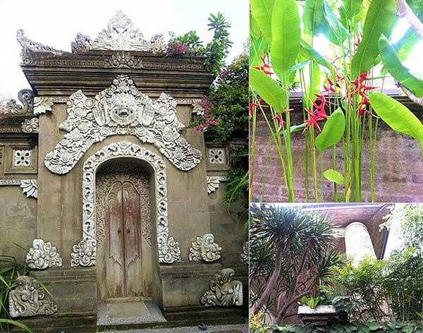 クタエリアの建物と植物
