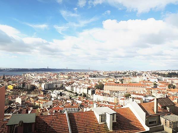 上空から見るリスボン