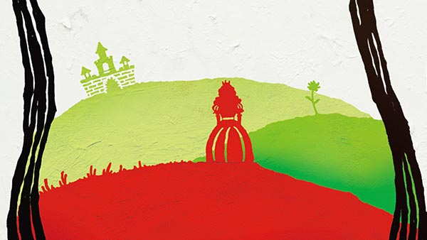 お姫様と草原の影絵
