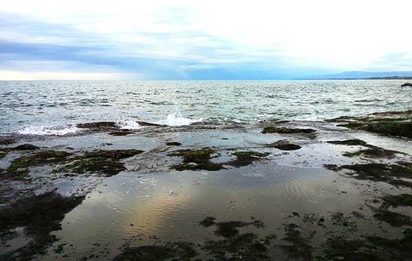 タナロット寺院での海辺
