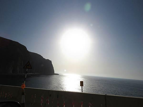 海岸から見える太陽