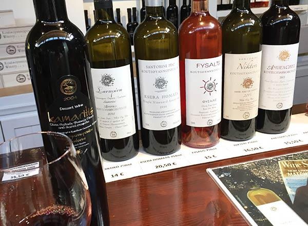 サントリーニ島名物のワインミュージアム