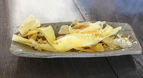 バナナの塩チップス