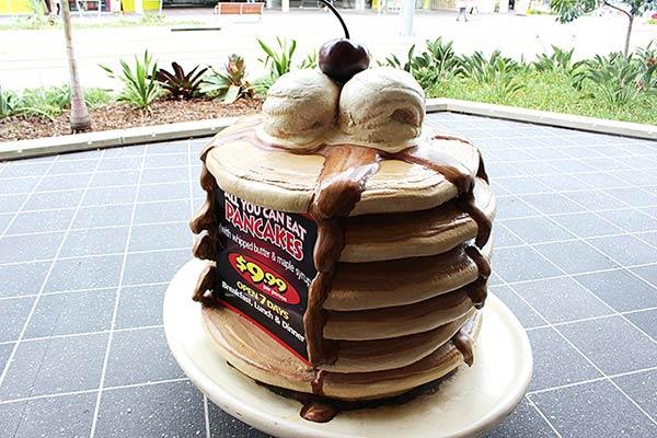 パンケーキのオブジェ