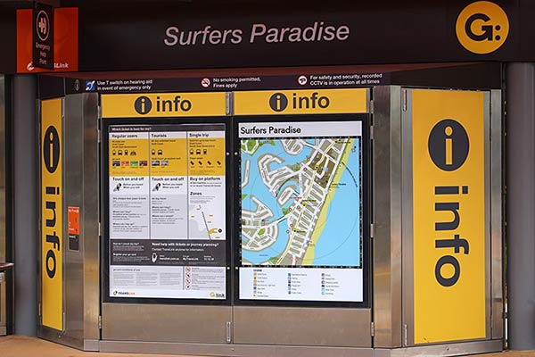 サーファーズパラダイスの地図