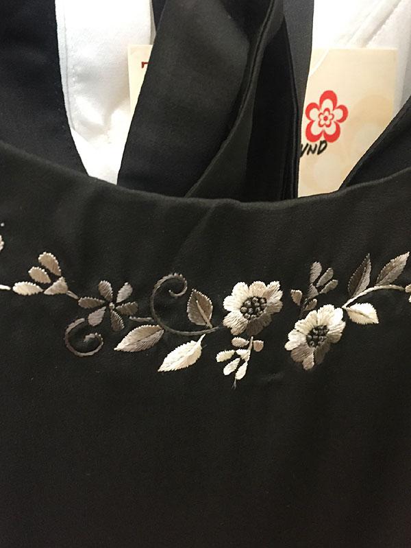 お花のベトナム刺繍