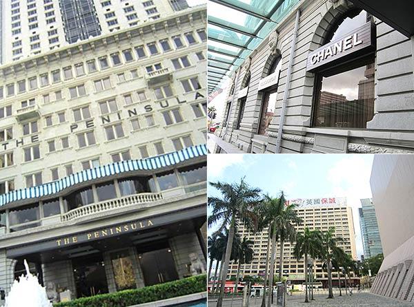 プロムナードのホテルや建物