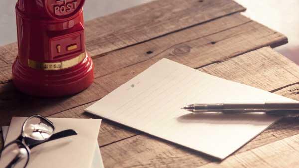 便箋とボールペン