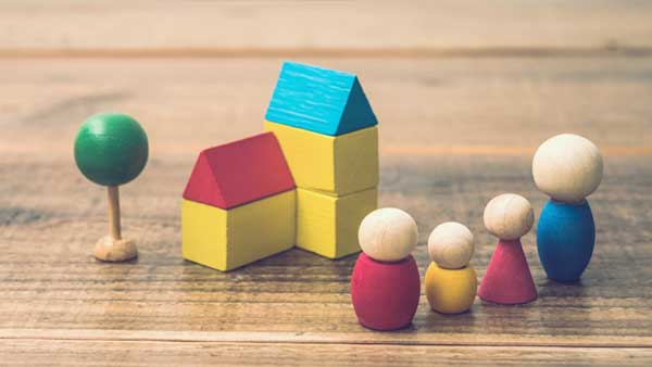 家と家族のミニチュア