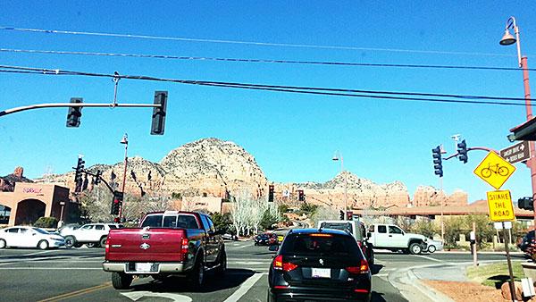 アリゾナ州セドナ市の交差点