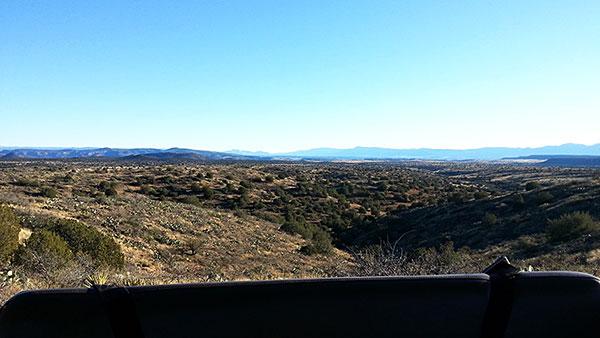 ジープから見下ろす広大な地