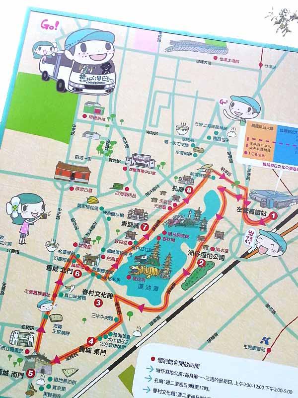 蓮池潭の地図